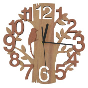 Giftgarden® Wooden Wall Clock in Tree Shaped Design