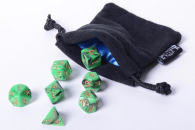 Easy Roller Dice Co. Emerald Swirl Polyhedral Dice Set 7 Piece Pristine Edition
