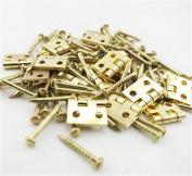 Z-Standby 20pcs Mini Folding Copper Hinge Building Model Connector DIY Card Accessories
