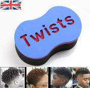 Original Barber Twists Sponge Foam Hair Brush For Dread Loc Afro Coil Curl