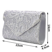 Wocharm Brand New Wonderful Lace Evening Clutch Bag Clutches BRIDAL WEDDING PARTY Handbag Shoulder Bags Fashion Prom Many Colours to Choose