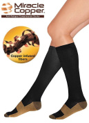 Miracle Copper Compression Socks Travel Knee High Varicose Veins Stocking
