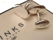 New LINKS OF LONDON Sterling Silver Rogue Oval T Bar Cufflinks 2516.0145