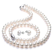 Freshwater Cultured Pearl Necklace Jewellery Sets Wedding Anniversary Gifts for Women - VIKI LYNN