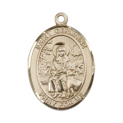 14ct Gold St. Germaine Cousin Medal. Patron Saint of Disabled/Abuse Victims