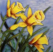 "Tile Picture Trivet Daff. Bloom 20cm x 20cm "" by Benaya"