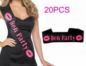 20PCS Hen Party Satin Sashes Ladies Girls Night Out Accessory Wedding Do Sash