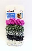 Scunci Effortless Beauty Soft Scrunchies 4 Pcs