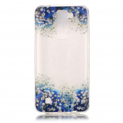 BLT® LG K8 Case, Blue Rose Buterfly Patttern Case for LG K8 / LG Escape 3/ LG Phoenix 2 with a Phone Bracket