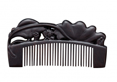 Icegrey Natural Handmade Engraving Black Sandalwood Hair Comb Beard Brush