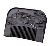 Icegrey Handmade Love of birds Black Sandalwood Wooden Beard Comb