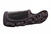Icegrey Natural Handmade Engraving Black Sandalwood Hair Comb Beard Brush Good Luck Omen