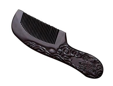 Icegrey Handmade Carved Pheniox Black Sandalwood Wooden Comb