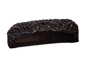 Icegrey Handmade Carved Dragan Black Sandalwood Wooden Comb Anti-Hair Loss