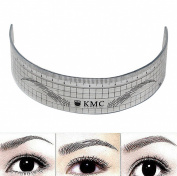 WellieSTR 1 Piece Permanent Makeup Stencils Plastic Eyebrow Ruler KMC Tattoo Cosmetic Shaping Tool 11cm For The Beginers