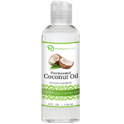 Fractionated Coconut Oil 120ml, Natural Carrier Oil, Skin & Hair Moisturiser, Pure Massage Oil, By Premium Nature