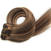 TheFashionWay Brazilian Human Hair Extensions Clip in Silky Straight Weft Remy Hair