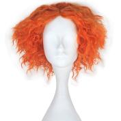 Miss U Hair Men Adult Short Curly Hair Unisex Yellow Orange Lolita Cosplay Costume Wig