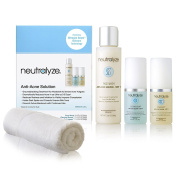 Neutralyze Moderate to Severe Acne Treatment Kit (30 Day) - Maximum Strength Anti Acne Medication Includes Face Wash, Clearing Serum & Synergyzer - Free HQ Microfiber Facial Towel