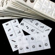 Q-COOL 35pcs Pattern Template Stencil Stickers Set Airbrush Stencils Nail Art Design for Fingers & Toes