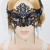 Prohouse(TM) Women Girl Sexy Lace Eyemask Eye Mask for Halloween Masquerade Party Black