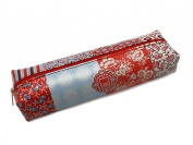 FLORAL QUILT RECTANGULAR PENCIL CASE (LARGE) 21 x 6,5 cm