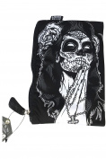Liquorbrand Gothic Rockabilly Tattoo Art Gipsy Rose Purse Cosmetic Bag