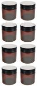 8 - 60ml Amber PET Jar's