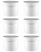 6 - 70ml White HDPE Jar's
