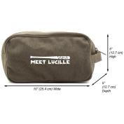 Meet Lucille Canvas Shower Kit Travel Toiletry Bag Case