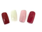 Extra Wide False Nails Four Pack Of Colours. Crossdressing, Transgender, Drag-Queen