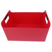 Pekky Storage Baskets/Bins with Handles,Multi-purpose (red) O
