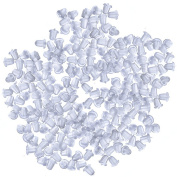 500Pcs/250Pairs Clear Soft Silicone Rubber Bullet Clutch Earring Safety Backs