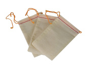Pack of 3 Cloth Drawstring Bags for Gold Nuggets Gemstone Beading Storage