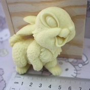 Let'S Diy Cute Rabbit 3D Silicone Non-Stick Handmade Soap Candle Moulds