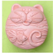 Let'S Diy Big Face Cat Fish 3D Silicone Candle Moulds Handmade Soap Moulds