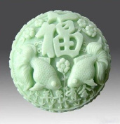 Let'S Diy Chinese Character Luck Silicone Handmade Soap Moulds Candle Mould