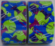2 Rolls Paper Clips and Push Pins Patterned Duct Tape
