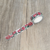 Red Flower Watercolour Floral Washi Tapes Masking Tape Decorative Stickers Diary Deco