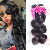 Jaja Hair 7A Peruvian Body Wave Virgin Hair Weave 3 Bundles 100% Unprocessed Human Hair Extensions 95-100g/pc Natural Colour 12 14 41cm
