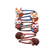 Lovely Animal Hair Clip Mini Cartoon Owl and Fox Hedgehog Hair Clip Set Little Girl Hair Accessory-Style 3+1pcs Emoji Keychain as Gift