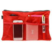 Travel Cosmetic Clear Makeup Insert Bag Nylon Zippered Mesh Bag Toiletry Handbag Purse Organiser Pouch Bag in Bag Tidy Luggage Storage Organiser