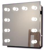 Diamond X Wallmount Hollywood Makeup Mirror with Dimmable LED k89WW