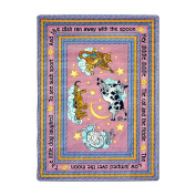 Joy Carpets Kid Essentials Infants & Toddlers Hey Diddle Diddle Rug, Pink, 0.9m x 1.5m