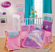 MARIE ARISTOCATS DISNEY ORIGINAL CRIB BEDDING SET SHEET 12PCS COMFORTER,BUMPER GUARD,HEAD BOARD LIMITED EDTION