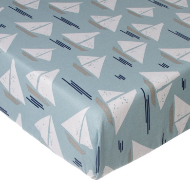Glenna Jean Little Sail Boat Fitted Sheet, Sailboat