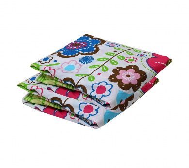 Bacati Crib Fitted Sheets, Botanical Pink (Pack of 2)