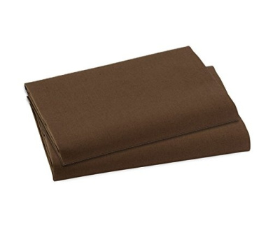 Bacati Crib Fitted Sheet, Solid Chocolate (Pack of 2)