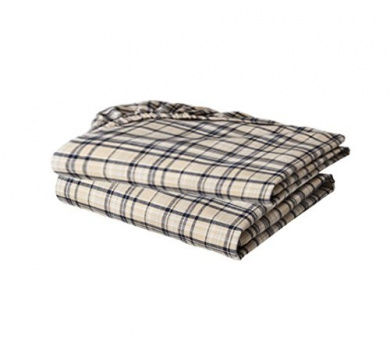 Bacati Crib Fitted Sheet, Khaki Plaids Yarn Dyed (Pack of 2)