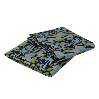 Bacati Crib Fitted Sheet, Camo Printed (Pack of 2)